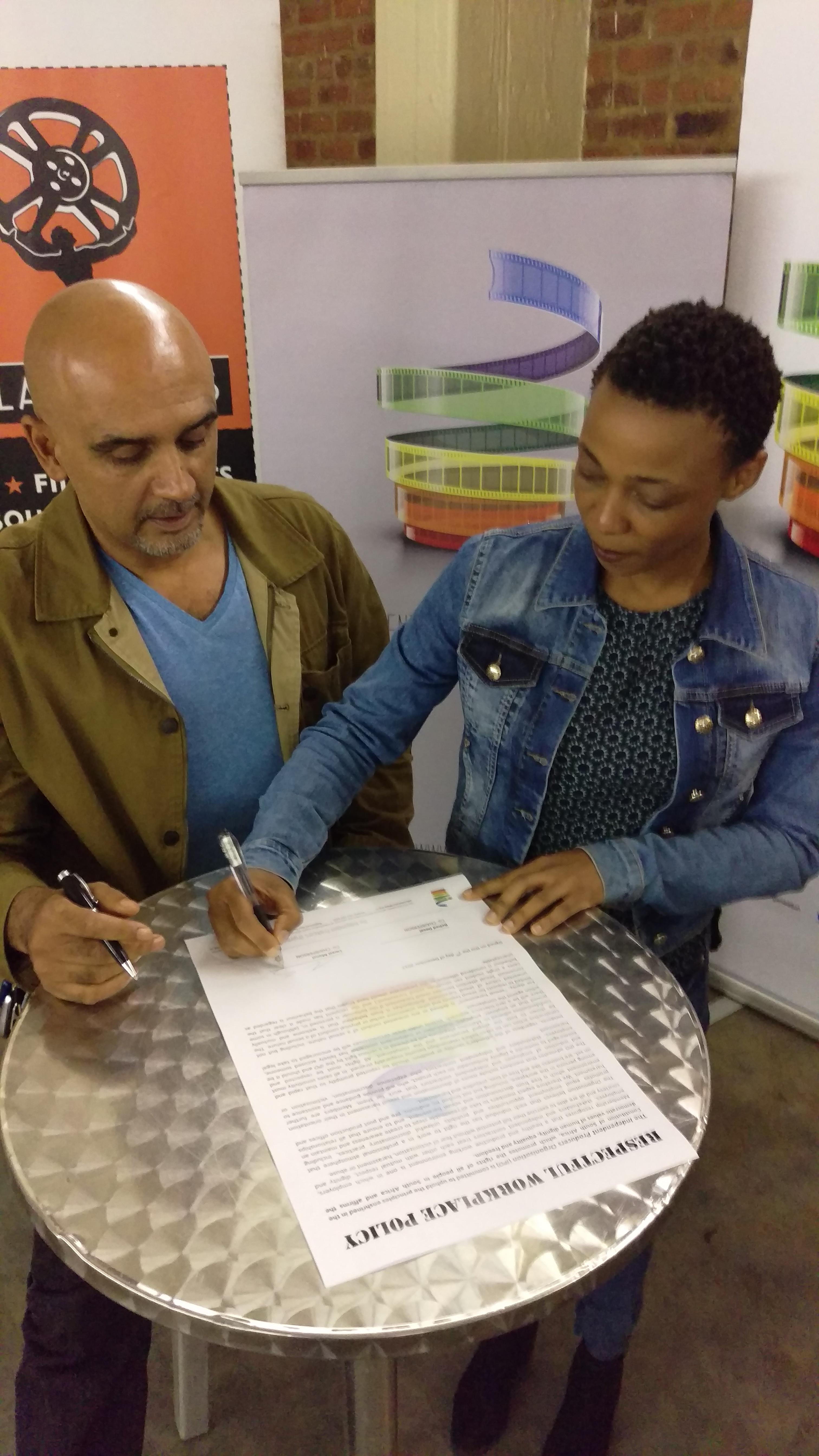 Rehad & Lwazi sign